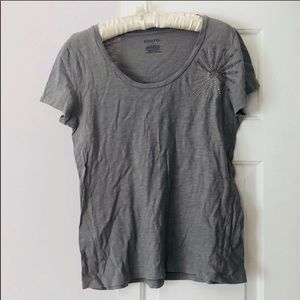 4 / $25 Merona target gray short sleeve top jewel